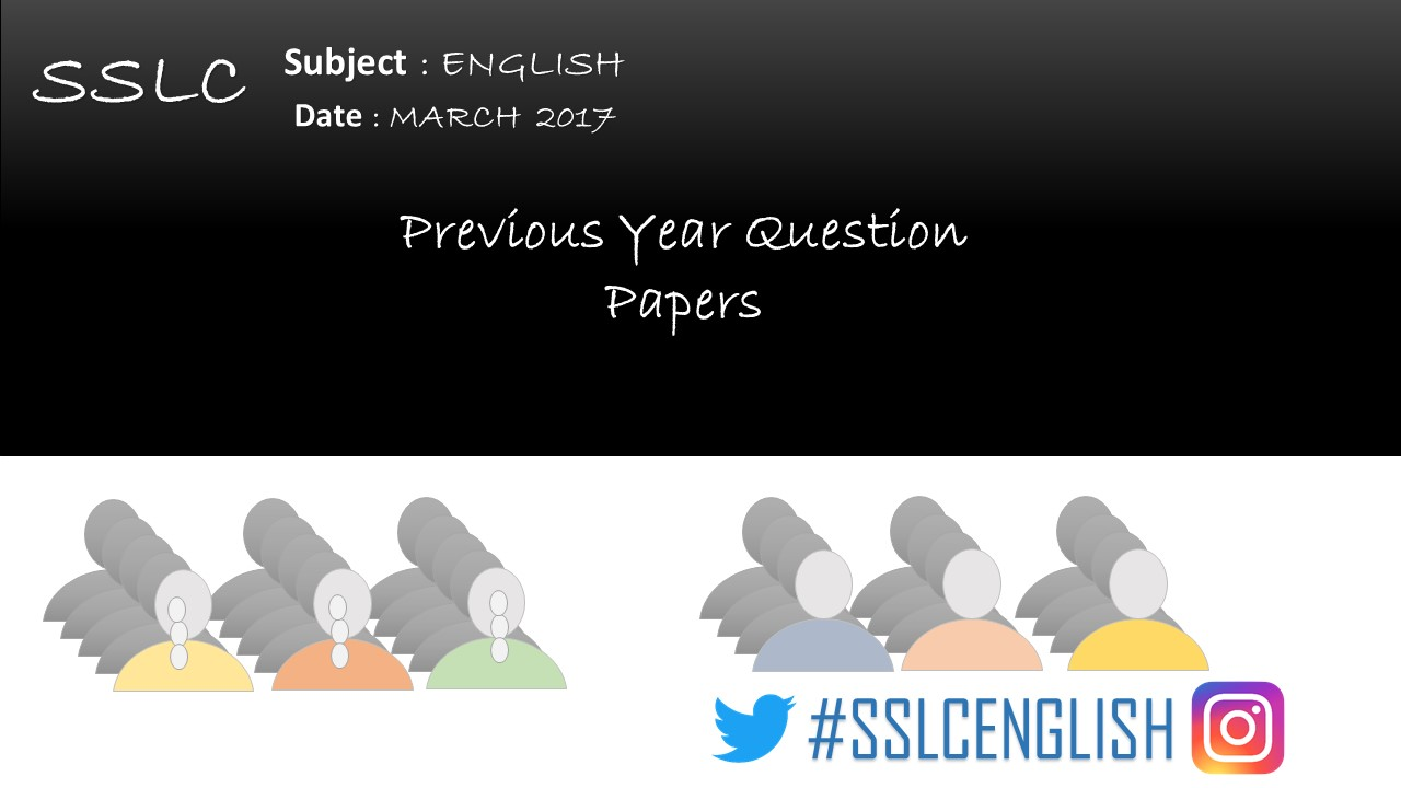 KARNATAKA - SSLC - FIRST LANGUAGE ENGLISH - QUESTION PAPER