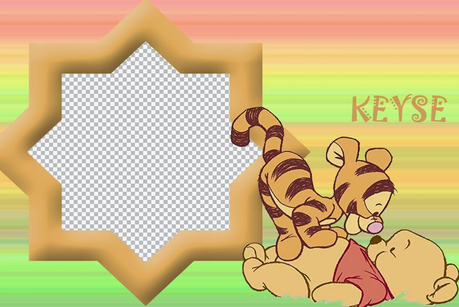 Baby Winnie the Pooh: Free Printable Frames, Invitations or Cards.