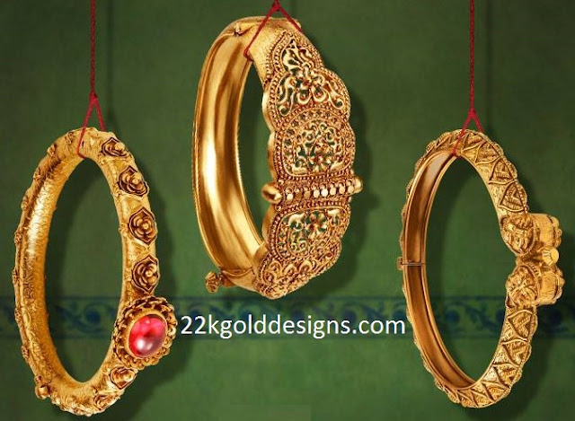 Tanishq Antique Gold Bangles