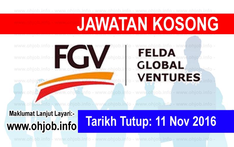 Jawatan Kerja Kosong Felda Global Ventures (FGV) logo www.ohjob.info november 2016