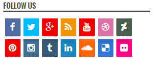 Cara Membuat Dan Memasang Tombol Follow Us Banyak Media Sosial Di Blog Kamu