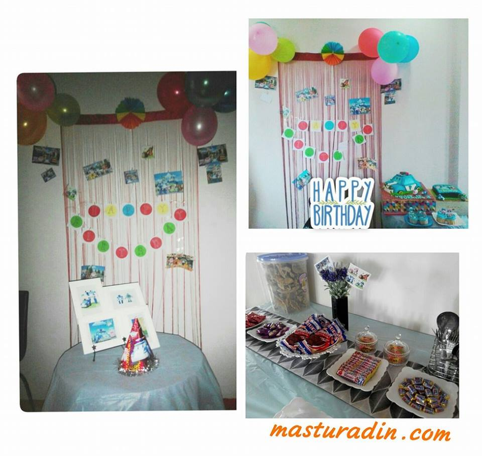 tema robocarpoli, birthday party, sambutan hari lahir, theme, kos,