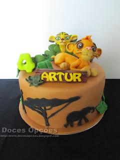 Bolo para o 4º aniversário do Artur com A Guarda do Leão