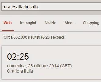 Ora Esatta in Italia? Roma? New York? Che ore sono con Google nel mondo.