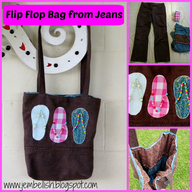 Flip Flop Bag from Jeans