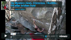 VIDEO - NO MYSTERY (low), 8A+/B, Chironico