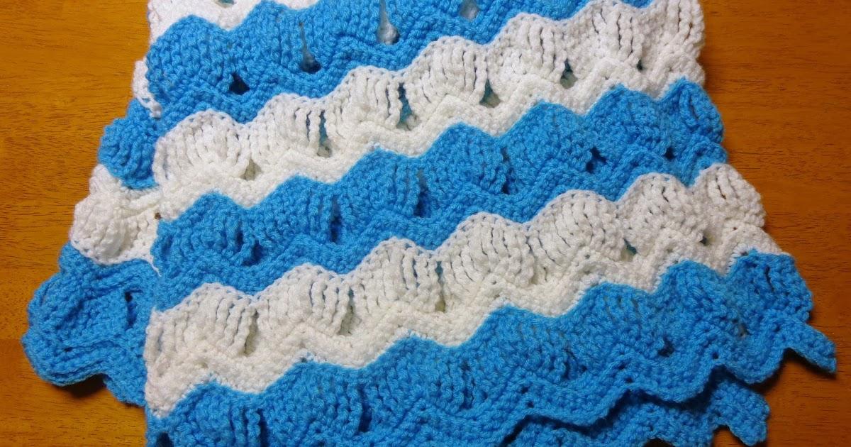 Hobby Hooker Vintage Fan Ripple Stitch Baby Blanket