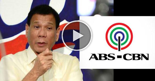 Ibinulgar Ni Pres Duterte Kung Paano Ibinaliktad Ng ABS-CBN Ang Estorya Para Siraan Siya!