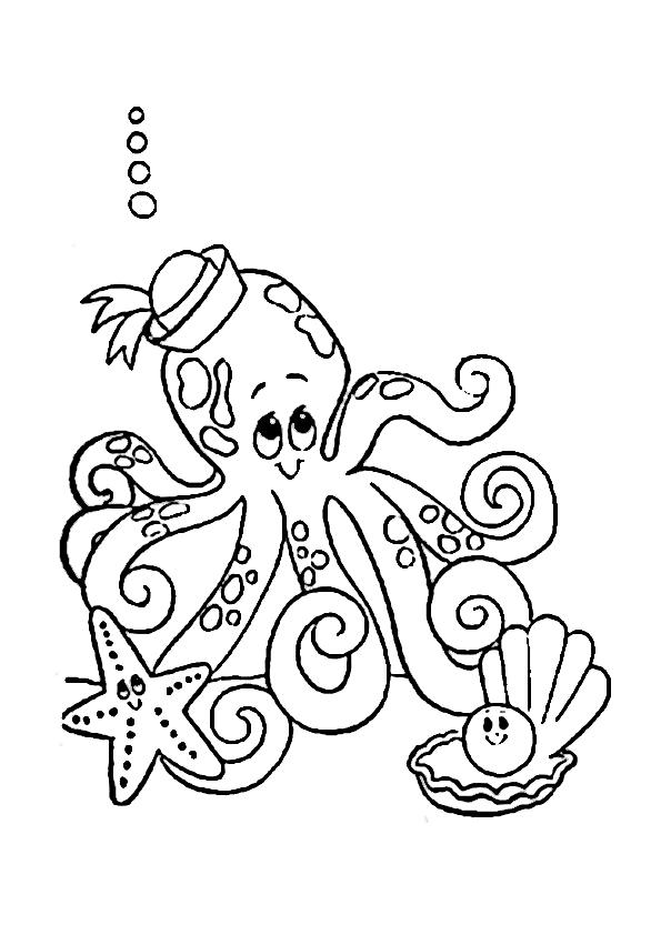Colorear pulpo   Imagenes y dibujos para imprimir