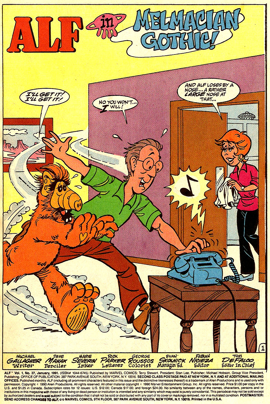 Read online ALF comic -  Issue #37 - 3