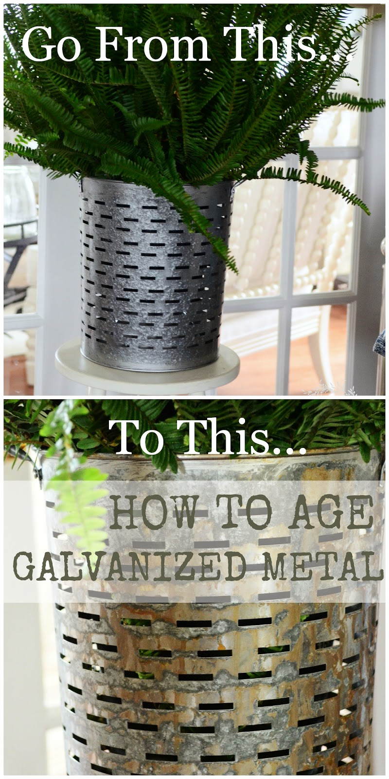 how to age galvanized metal stonegable. Black Bedroom Furniture Sets. Home Design Ideas