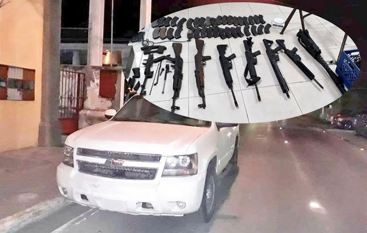 Elementos de la Sedena asegura arsenal en casa de seguridad en San Fernando, Tamaulipas