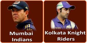 मुम्बई इंडियन्स बनाम कोलकाता नाईट राईडर्स 7 मई 2013 को है।