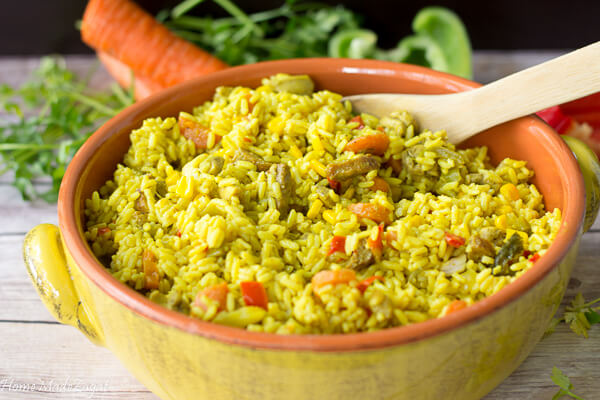 Cuban Yellow Rice - a one pot dish
