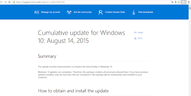 Microsoft has rolled out another cumulative update for Windows 10