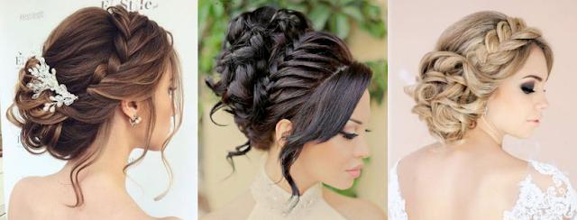 penteado preso com trança para noivas