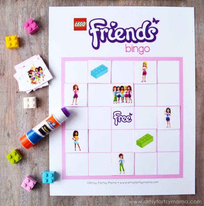 Free Printable LEGO Friends Bingo | artsy-fartsy mama