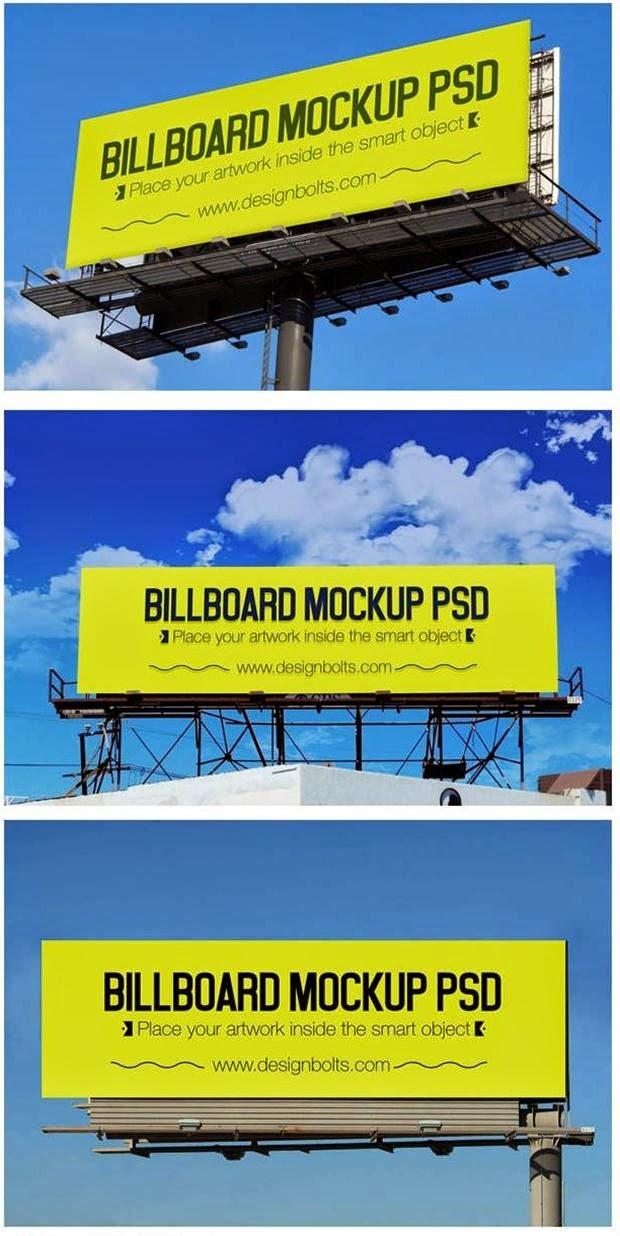 3 Outdoor Billboard Advertising Mockup PSD