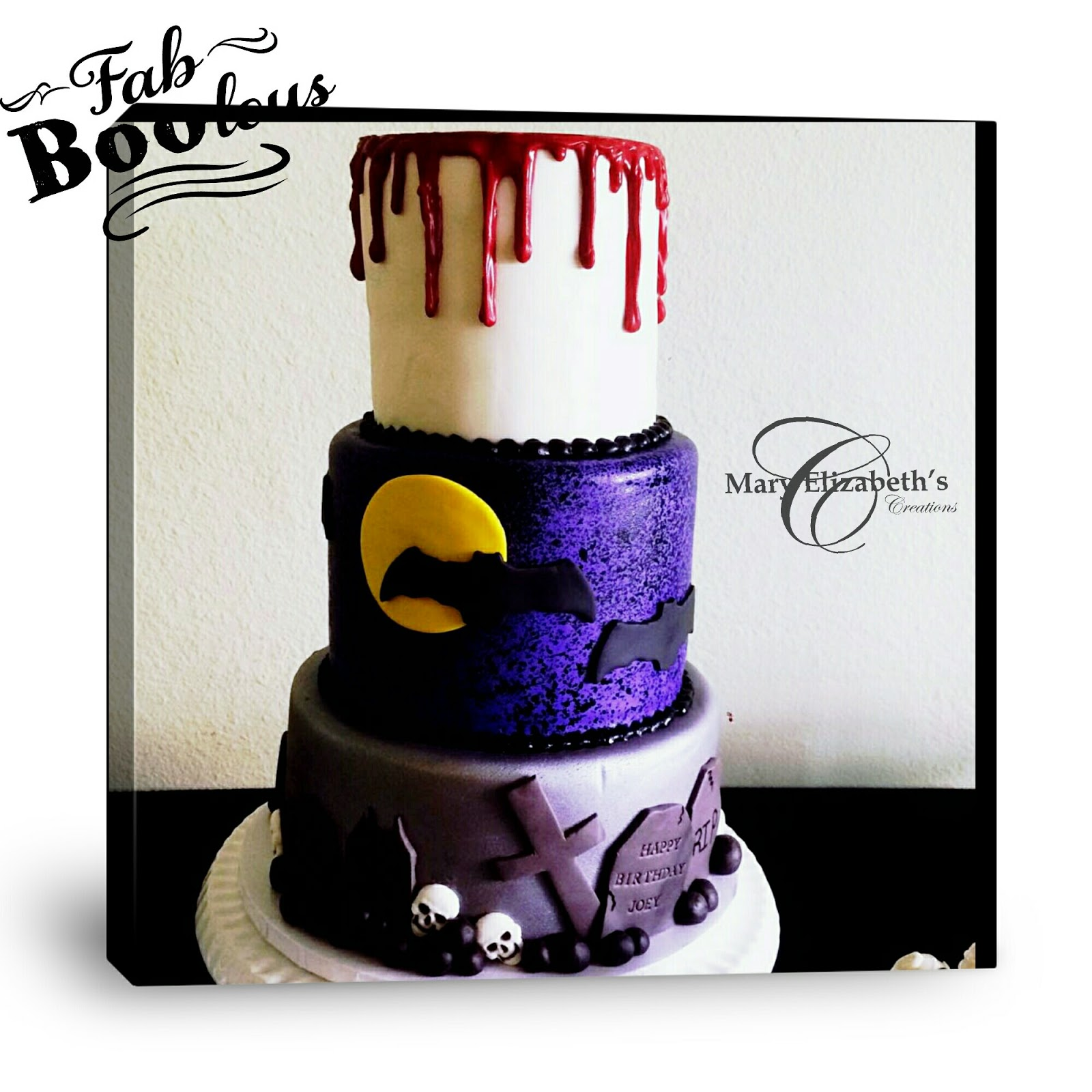 Mary Elizabeth\'s Creations: Halloween Themed Cake 1 (Wedding Cake)