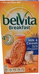 Belvita breakfast biscuit milk & cereals