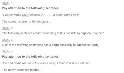Contoh Soal Conditional Sentences Type 1, 2, 3