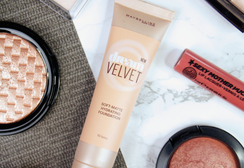 maybelline dream velvet soft matte hydrating foundation review swatch