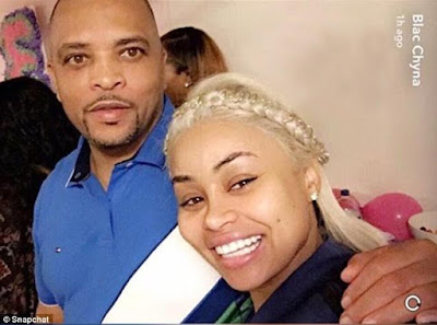 picture of blac chyna and her father eric holland