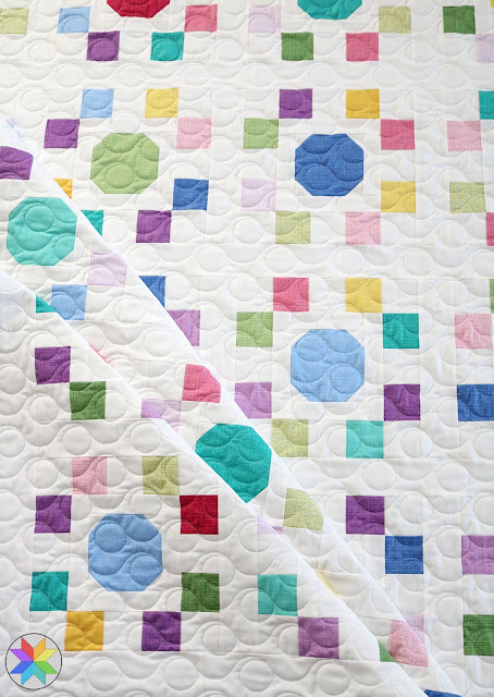 "Spot On quilt pattern by Andy of A Bright Corner - perfect for precut 10"" squares.  Pattern has four sizes - crib, throw, twin, queen"