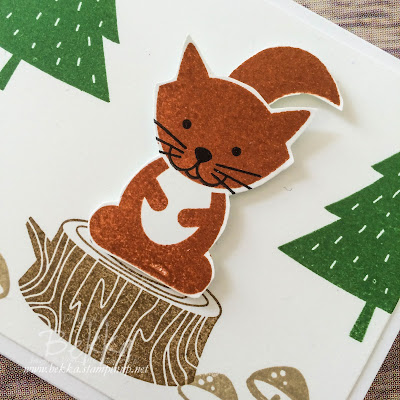 Squirrel! How to Make a Squirrel Using One Of the Foxy Friends Stamps from Stampin' Up! UK