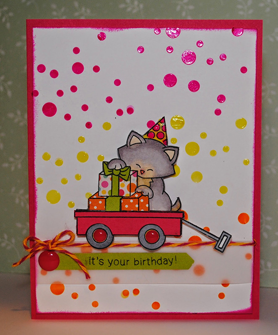 Favorite for Inky Paws Challenge #11 - Citrus Colors  - Cat Stamp Set by Newton's Nook designs