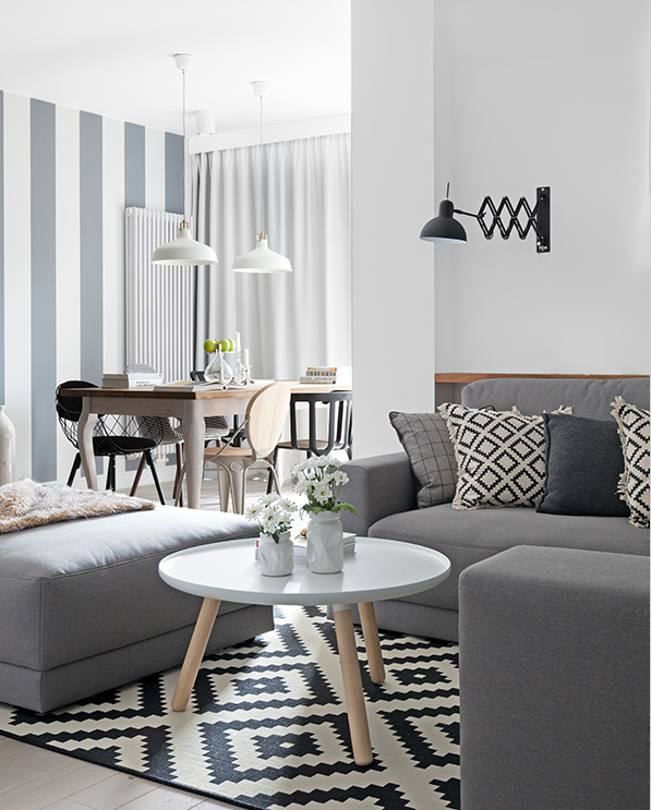 Decordemon a delightful apartment in warsaw poland for Comedor estilo nordico