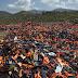 Greek island battles lifejacket mountain