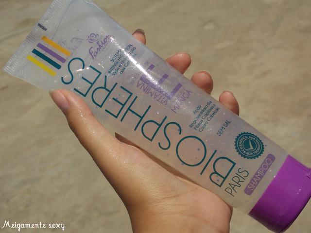 shampoo transparente com vitamina