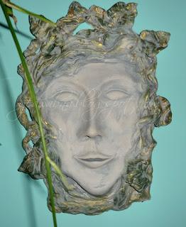 portret, twarz, gliniana maska