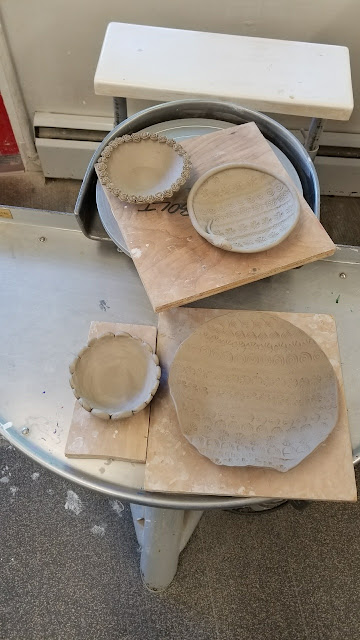 Nature inspired pottery by Lily L, in progress.