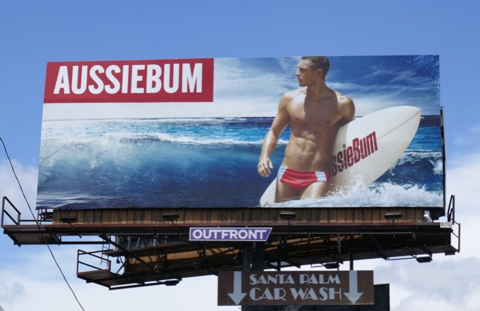 AussieBum surfer speedo SS19 billboard