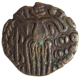 [CHO004] Rajaraja Chola Coin - Copper Massa