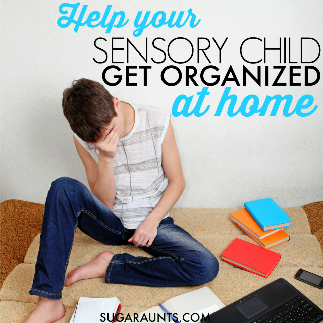 How to help disorganized kids get organized at home with homework and after school to evening time.