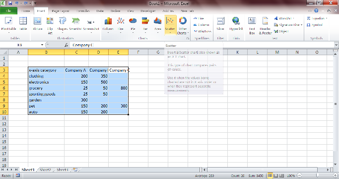 Simple Math and Excel Tips: How to create an Excel scatter plot and