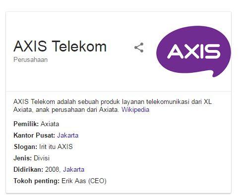 Paket Internet Axis Terbaru 2017