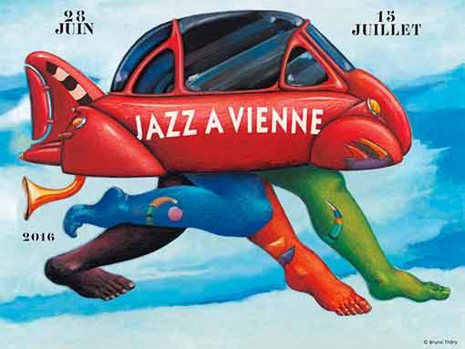 Affiche - Jazz à Vienne 2016 - programmation - théâtre antique -