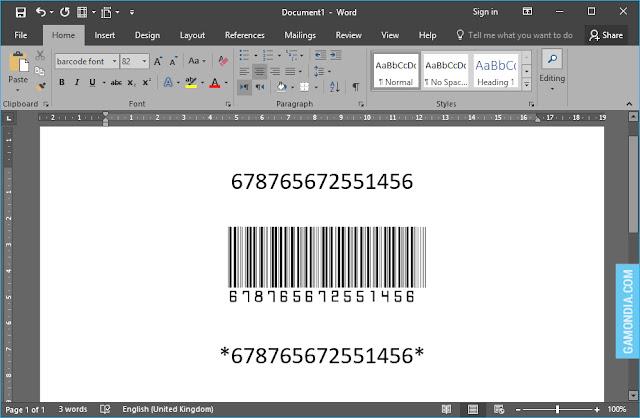 Cara Membuat Barcode di Microsoft Office Word