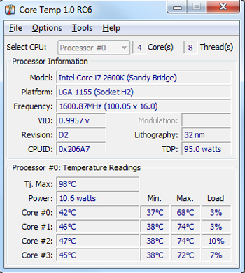 Core Temp 1.0 RC6