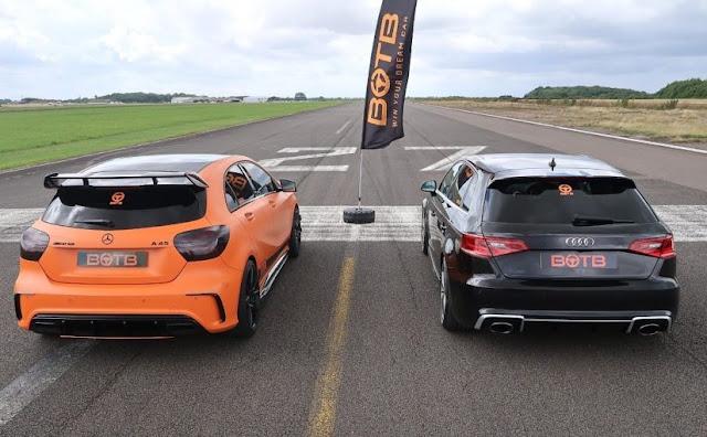 Audi RS3 x Mercedes A45 AMG: qual anda mais? - vídeo