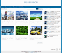 Blue Gremble Blogger Responsive Templates