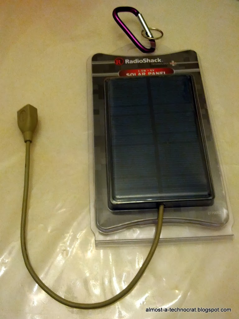 Completed solar panel USB charger
