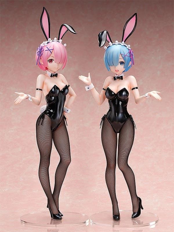 Figuras: Nuevas Ram y Rem Bunny Ver. de Re:ZERO - FREEing