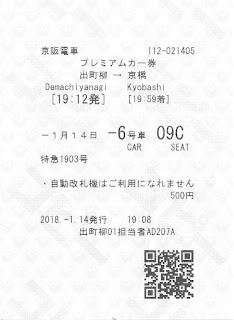京阪電鉄プレミアムカー券