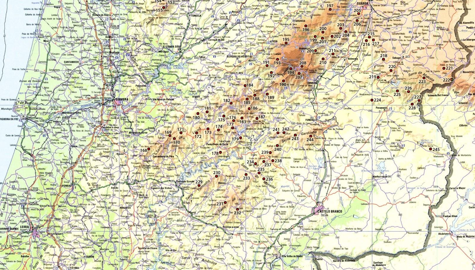 serra caramulo mapa Mapa De Portugal Serra Do Caramulo | thujamassages serra caramulo mapa