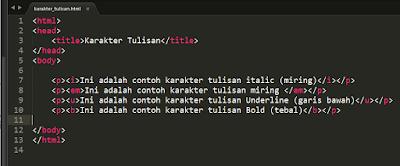 Cara Mengatur Karakter Huruf di HTML